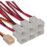 InLine 3-pin-Molex Buchse auf 6x 3-pin Molex Stecker Adapterkabel