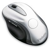 Verbatim Wireless Mouse Desktop Laser Maus Silber USB