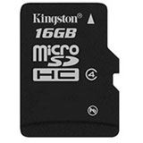 16 GB Kingston Standard microSDHC Class 4 Retail