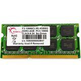 2GB G.Skill SQ Series DDR3-1333 SO-DIMM CL9 Single