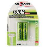 ANSMANN Solar HR6 Nickel-Metall-Hydrid AA Mignon Akku 800 mAh 2er Pack