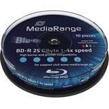 MediaRange BD-R 25 GB bedruckbar 10er Spindel (MR496)