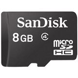 8 GB SanDisk Standard microSDHC Class 4 Retail