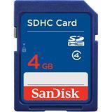 4 GB SanDisk Standard SDHC Class 4 Bulk