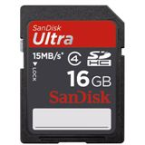 16 GB SanDisk Ultra SDHC Class 4 Bulk