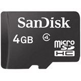 4 GB SanDisk Standard microSDHC Class 2 Bulk