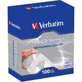 Verbatim 100er Pack CD- Papierhüllen für Aufbewahrung