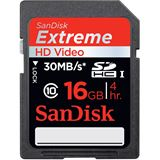 16 GB SanDisk Extreme HD Video SDHC Class 10 Retail