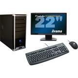 AMD Athlon II X2 220 2048MB 500GB DVD-RW onBoard Grafik Maus Tastatur