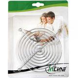 InLine Lüftergitter für 80mm Lüfter silber (33378)