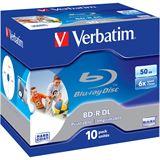 Verbatim BD-R DL 50 GB bedruckbar 10er Jewelcase (43736)