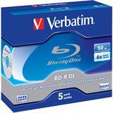 Verbatim BD-R DL 50 GB 5er Jewelcase (43748)