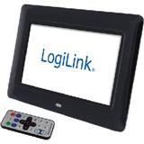 """8"""" (20,32cm) Logilink Digitaler Bilderrahmen schwarz"""