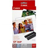 Canon KL-36IP photo paper inkjet 89x119mm 36 Blatt with ink cassette for CP-100