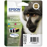 Epson T0896 Tintenpatrone dreifarbig kleine Kapazität 3 x 3.5ml 3er-Pack - Multi tag