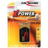 ANSMANN X-Power 6LR61 Alkaline E Block Batterie 9.0 V 1er Pack