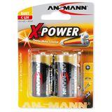 ANSMANN X-Power LR14 Alkaline C Baby Batterie 1.5 V 2er Pack