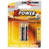 ANSMANN X-Power LR03 Alkaline AAA Micro Batterie 1.5 V 2er Pack