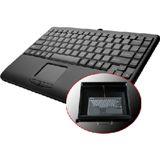 Perixx Tastatur, PERIBOARD-502 PLUS, USB, mit Touchpad, schwarz