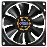 Titan TFD-8025M12ZP 80x80x25mm 2500 U/min 28 dB(A) schwarz