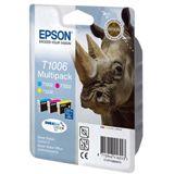 Epson T1006 Tintenpatrone dreifarbig Standardkapazität 3 x 11.1ml 3er-Pack RF Tag