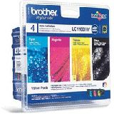 Brother Tinte LC1100HY Value Pack LC-1100HYVALBP schwarz, cyan,