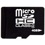 4 GB takeMS Memory microSDHC Class 4 Bulk inkl. Adapter