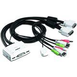 Trendnet TK-214I 2-fach Kabel KVM-Switch