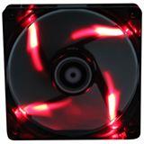 BitFenix Spectre LED rot 120x120x25mm 800-1000 U/min 18 dB(A) schwarz/transparent