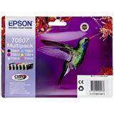 Epson T0807 Tintenpatrone schwarz und fünf Farben