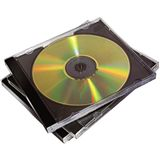 Fellowes GmbH 10er Pack CD Jewelcase schwarz Leerhülle für