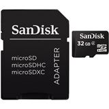 32 GB SanDisk Standard microSDHC Class 2 Bulk inkl. Adapter
