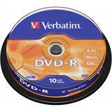Verbatim DVD-R 4.7 GB 10er Spindel (43523)