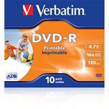 Verbatim DVD-R 4.7 GB bedruckbar 10er Jewelcase (43521)