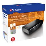 "3000GB Verbatim Store and Save SuperSpeed 47673 3.5"" (8.9cm) USB 3.0 schwarz"