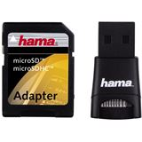 Hama 00091047 USB-SD-Adapter-Set USB 2.0 Stick Single Slot Kartenleser