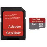 8 GB SanDisk Mobile Ultra SD Class 6 Bulk inkl. Adapter