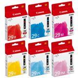 Canon Tinte 4873B005 Cyan, magenta, gelb, rot, magenta photo, cyan photo