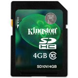 4 GB Kingston Video HD SDHC Class 10 Bulk