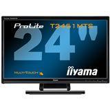 "23,6"" (59,94cm) iiyama ProLite T2451MTS-B1 Touch schwarz 1920x1080 2xHDMI 1.3/1xVGA/1xDVI"