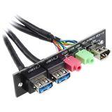 Silverstone 2x USB 3.0/Audio/FireWire Upgrade Montagekit für