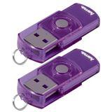 "8 GB Hama FlashPen ""Elatio"" Doppelpack lila USB 2.0"