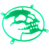 Bitspower 80mm ultragrün Skull Lüftergitter für