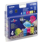 Brother Tinte LC1000 Value Pack LC-1000VALBPDR schwarz, cyan, magenta, gelb