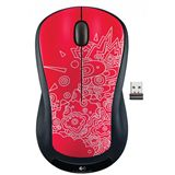 Logitech M325 USB Red Topography (kabellos)