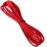 BitFenix 6-Pin PCIe Verlängerung 45cm - sleeved red/red