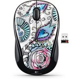 Logitech M325 Wireless Optische USB Maus Floral Foray