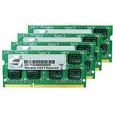 16GB G.Skill Mac Memory DDR3-1333 SO-DIMM CL9 Quad Kit