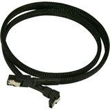 Nanoxia 60cm schwarzes Kabel für SATA 3.0 (NXS6G60)