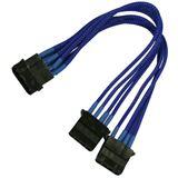 Nanoxia 20 cm blaues Y-Kabel für 4-Pin Molex (NX4PY2EB)